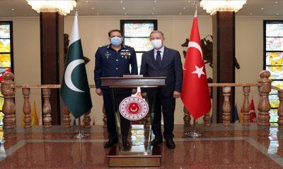 Bakan Akar, Pakistan Hava Kuvvetleri Komutanı Org.Zaheer Ahmed Baber Sidhu'yu Kabul Etti