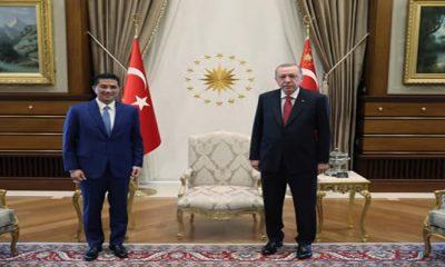 Cumhurbaşkanı Erdoğan, Malezya Uluslararası Ticaret ve Sanayi Bakanı Ali'yi kabul etti