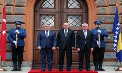 Cumhurbaşkanı Erdoğan, Bosna-Hersek Devlet Başkanlığı Sarayı'nda