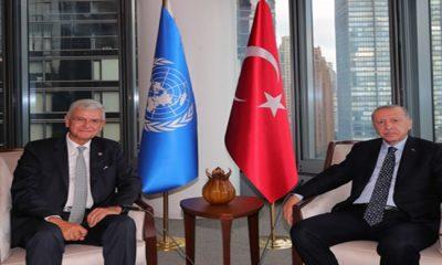 Cumhurbaşkanı Erdoğan, BM 75. Genel Kurul Başkanlığı görev süresini tamamlayan Bozkır'ı kabul etti