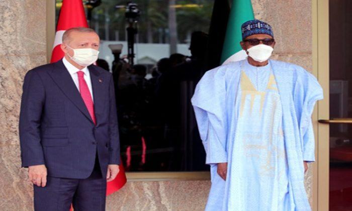 Cumhurbaşkanı Erdoğan, Nijerya Cumhurbaşkanlığı Sarayı'nda