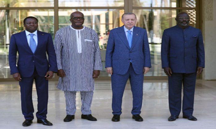 Cumhurbaşkanı Erdoğan; Togo, Burkina Faso ve Liberya Devlet Başkanlarıyla bir araya geldi
