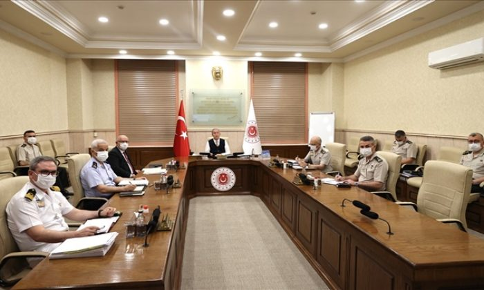 Millî Savunma Bakanı Hulusi Akar, Video Telekonferans Yöntemiyle Toplantı Yaptı